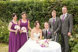 Ciara's gorgeous wedding Angelina bridesmaid dresses