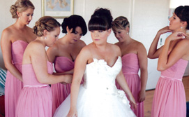 coral pink bridesmaid dresses online