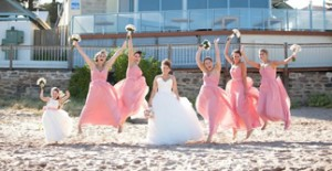 coral bridesmaid dresses online store in Australia