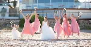 coral bridesmaid dresses online store in Australia