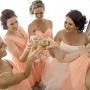 Natasha Millani peach bridesmaid dresses. Mix and match bridesmaid dresses.