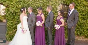 plum bridesmaids dresses with sleeves