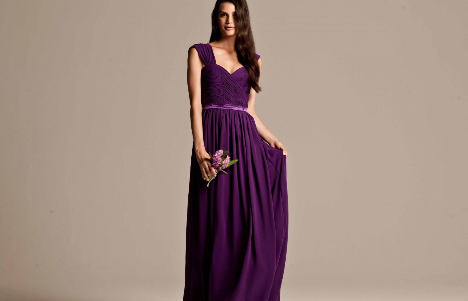bridesmaid dresses in purple online