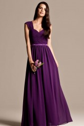 Isabella bridesmaid dresses in purple 2