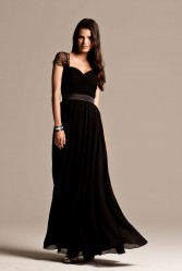 black_bridesmaid_dresses_with-lace sleeve