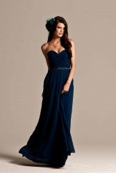 navy strapless bridesmaid dresses online