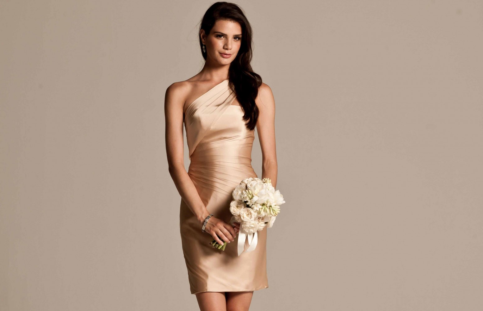Real Bridesmaids In Beige Bridesmaid Dresses: Bridesmaid Dresses