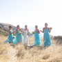 Natasha Millani bridesmaid dresses in tiffany blue
