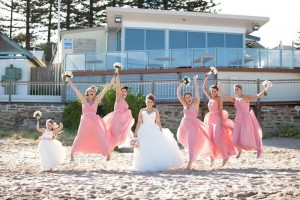 Nicola wedding Natasha Millani bridesmaid dresses in rose and pink online Jumping girls