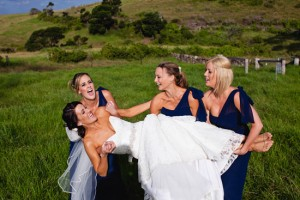 Natasha Millani Real Bridesmaids in navy bridesmaid dresses