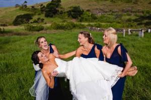Natasha Millani Real Bridesmaids in navy bridesmaid dresses