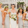 Natasha Millani real bridesmaids in off shoulder bridesmaid dresses in grey colour