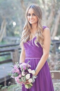 Natasha Millani real bridesmaid in lilac Chloe bridesmaid dress