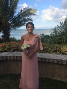 one shoulder bridesmaid dresses in the dusty pink colour
