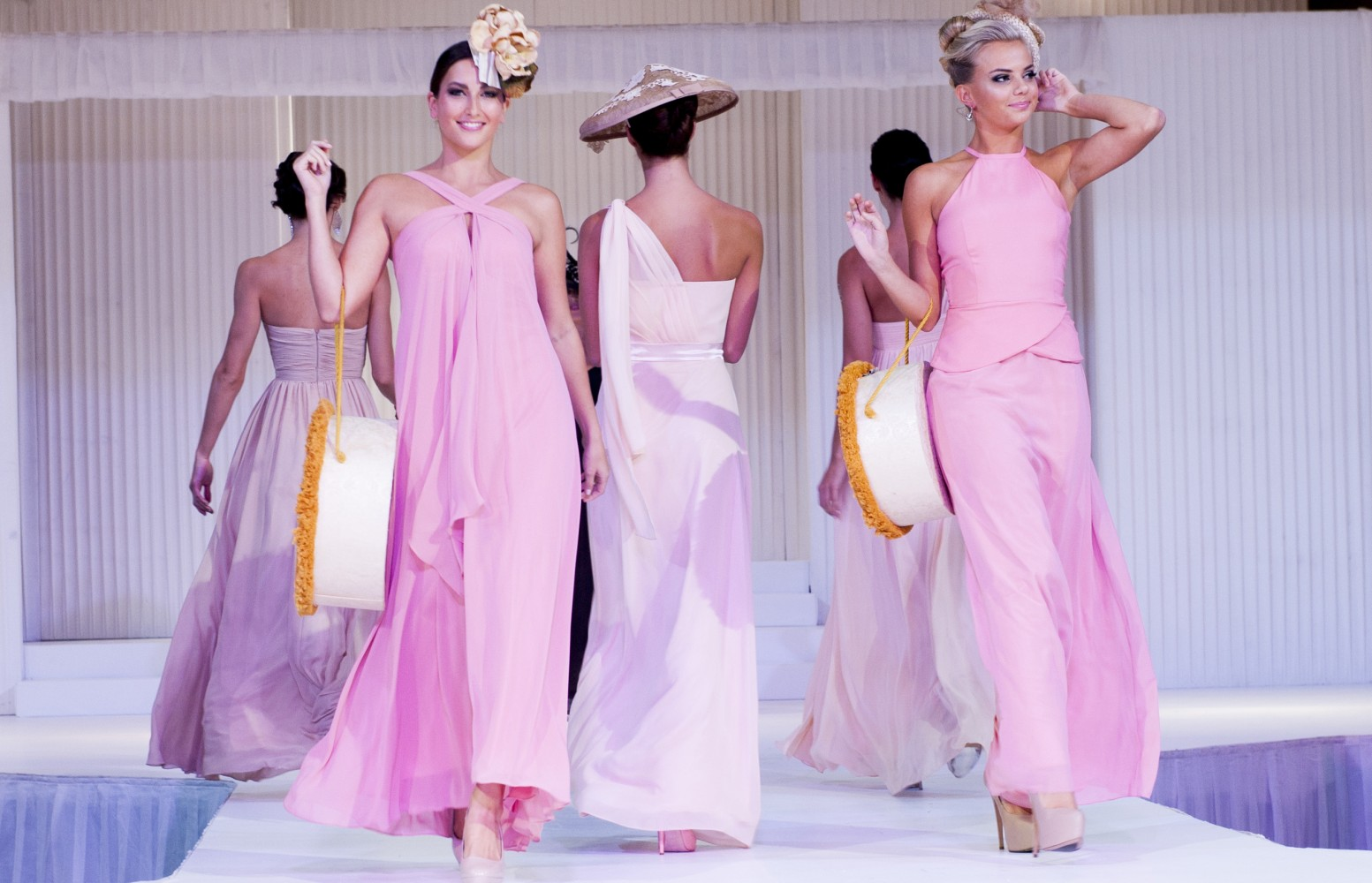 sydney bridal expo natasha millani bridesmaid dresses pink