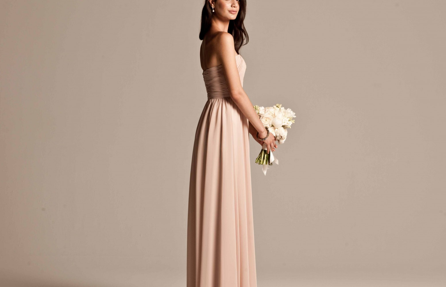 Bridesmaid dresses press testimonials wedding accessories swatches